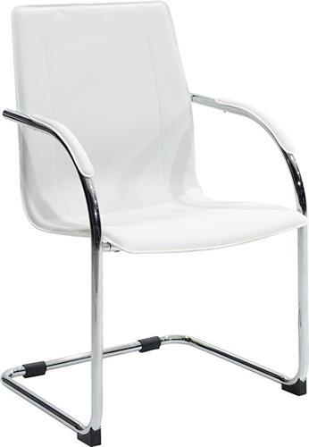 Καρέκλες ΥποδοχήςPakoworldΚαρέκλα επισκέπτη Adele Δερματίνη λευκό