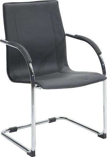 Καρέκλες ΥποδοχήςPakoworldΚαρέκλα επισκέπτη Adele Δερματίνη μαύρο