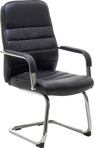 Καρέκλες ΥποδοχήςPakoworldΚαρέκλα επισκέπτη Alvaro Δερματίνη μαύρο