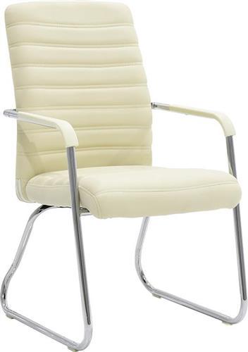 Καρέκλες ΥποδοχήςPakoworldΚαρέκλα επισκέπτη Aron Δερματίνη εκρού