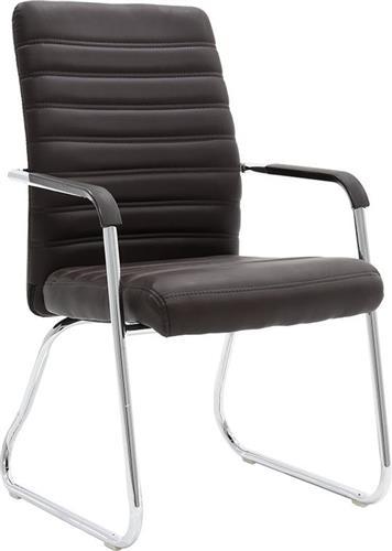 Καρέκλες ΥποδοχήςPakoworldΚαρέκλα επισκέπτη Aron Δερματίνη καφέ