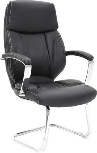 Καρέκλες ΥποδοχήςPakoworldΚαρέκλα επισκέπτη Charlot Δερματίνη μαύρο