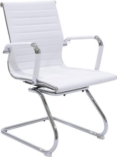 Καρέκλες ΥποδοχήςPakoworldΚαρέκλα επισκέπτη Doro Δερματίνη λευκό