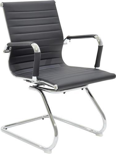 Καρέκλες ΥποδοχήςPakoworldΚαρέκλα επισκέπτη Doro Δερματίνη μαύρο