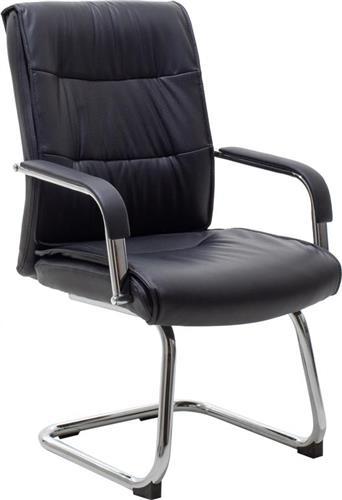 Καρέκλες ΥποδοχήςPakoworldΚαρέκλα επισκέπτη Eddy Δερματίνη μαύρο