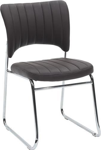 Καρέκλες ΥποδοχήςPakoworldΚαρέκλα επισκέπτη Evelia Δερματίνη καφέ