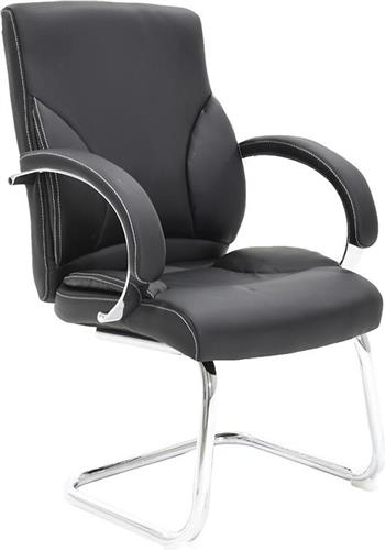 Καρέκλες ΥποδοχήςPakoworldΚαρέκλα επισκέπτη Filippo Δερματίνη μαύρο