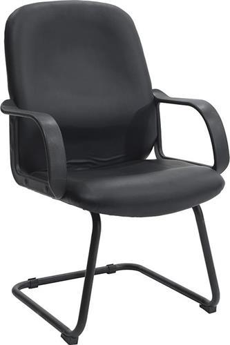 Καρέκλες ΥποδοχήςPakoworldΚαρέκλα επισκέπτη Lucia Δερματίνη μαύρο