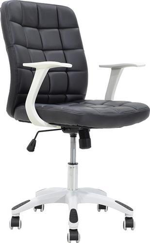 Καρέκλα ΓραφείουPakoworldARIEL Δερματίνη μαύρο-λευκό