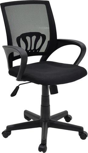 Καρέκλα ΓραφείουPakoworldBerto ύφασμα mesh μαύρο