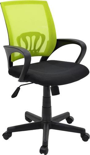 Καρέκλα ΓραφείουPakoworldBerto ύφασμα mesh μαύρο-πράσινο