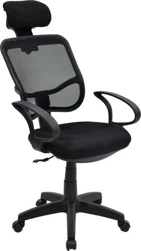 Καρέκλα ΓραφείουPakoworldBond ύφασμα mesh μαύρο