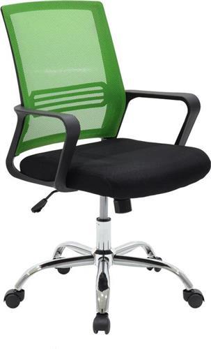 Καρέκλα ΓραφείουPakoworldDanilo υφασμάτινη μαύρο-πράσινο