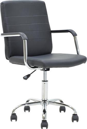 Καρέκλα ΓραφείουPakoworldDOGGY Δερματίνη μαύρο