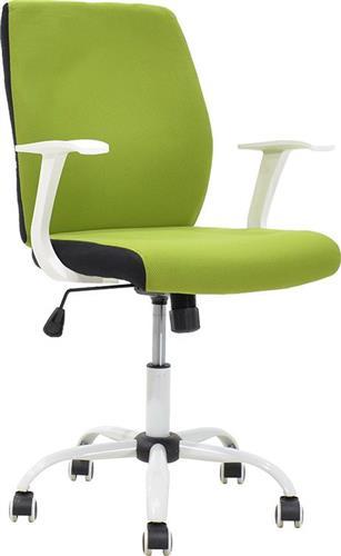 Καρέκλα ΓραφείουPakoworldMEMORY ύφασμα πράσινο-λευκό