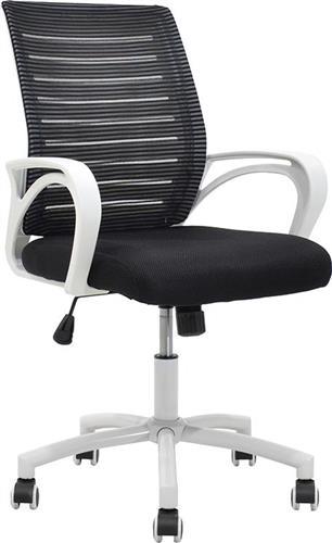 Καρέκλα ΓραφείουPakoworldPASSION ύφασμα mesh μαύρο-λευκό