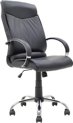 Pakoworld Καρέκλα Monro Δερματίνη μαύρο