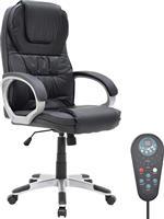 Pakoworld Θερμαινόμενη Καρέκλα Relax Δερματίνη μαύρο με Massage