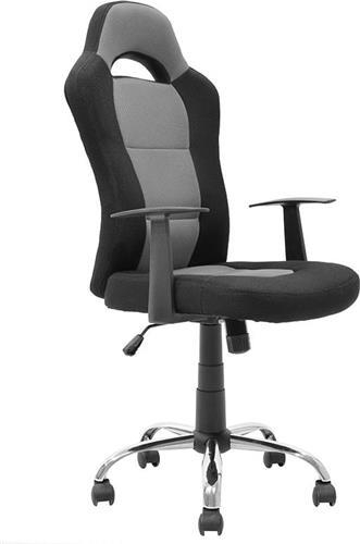 Καρέκλα ΓραφείουPakoworldΚαρέκλα Simba ύφασμα mesh μαύρο-γκρι