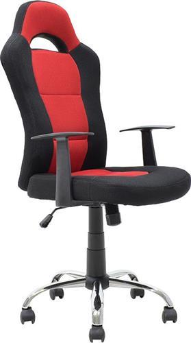 Καρέκλα ΓραφείουPakoworldΚαρέκλα Simba ύφασμα mesh μαύρο-κόκκινο