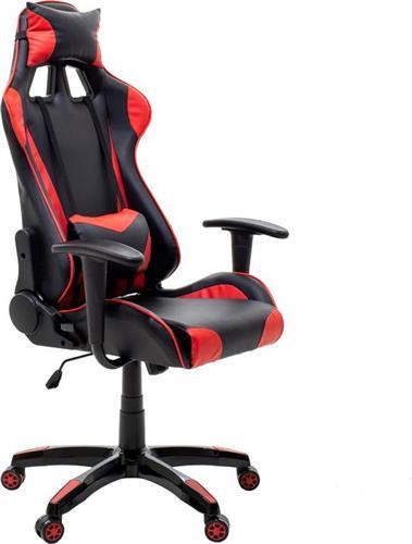 Καρέκλα ΓραφείουPakoworldKαρέκλα Gaming GT-R11 Δερματίνη μαύρο-κόκκινο