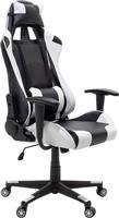 Pakoworld Καρέκλα Gaming GT-R3 Δερματίνη ασπρό-μαύρο