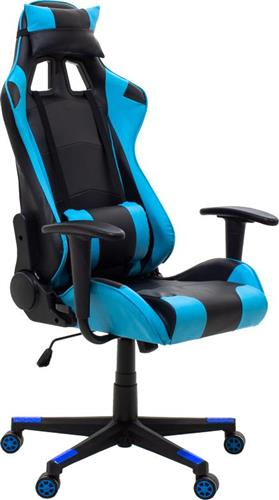 Pakoworld Καρέκλα Gaming GT-R3 Δερματίνη μαύρο-γαλάζιο