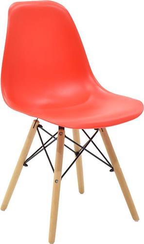 ΚαρέκλαPakoworldΚαρέκλα Julita πολυπροπυλένιο κόκκινο