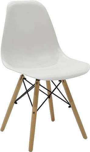 ΚαρέκλαPakoworldΚαρέκλα Julita πολυπροπυλένιο λευκό