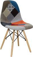 Pakoworld Καρέκλα Julita ύφασμα patchwork