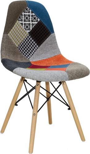 ΚαρέκλαPakoworldΚαρέκλα Julita ύφασμα patchwork
