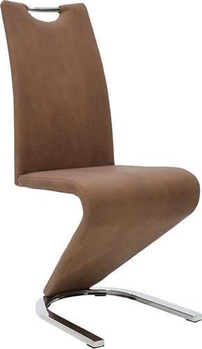 ΚαρέκλαPakoworldKING μεταλλική & δερματίνη antique brown