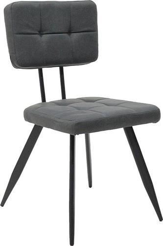 ΚαρέκλαPakoworldLENIA μεταλλική & δερματίνη antique grey