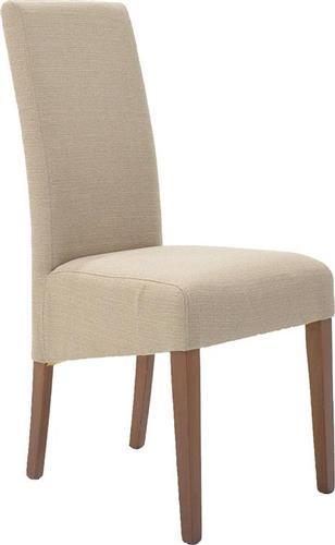 ΚαρέκλαPakoworldLUNGO ξύλο οξιάς & μπεζ ύφασμα
