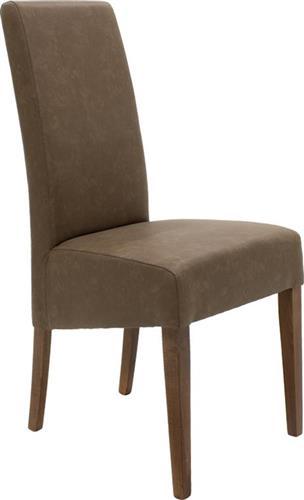 ΚαρέκλαPakoworldLUNGO ξύλο οξιάς & antique καφέ δερματίνη