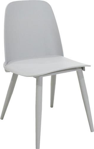 ΚαρέκλαPakoworldΚαρέκλα μεταλλική Lora πολυπροπυλένιο γκρι
