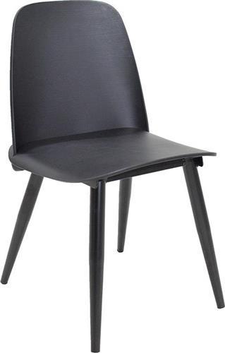ΚαρέκλαPakoworldΚαρέκλα μεταλλική Lora πολυπροπυλένιο μαύρο