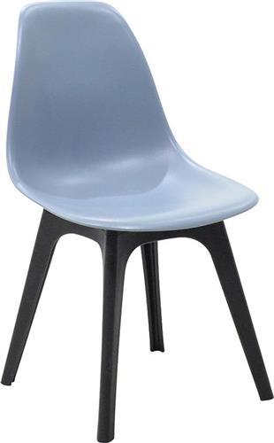 ΚαρέκλαPakoworldΚαρέκλα Perla πολυπροπυλένιο μαύρο-γκρι