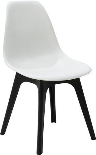 ΚαρέκλαPakoworldΚαρέκλα Perla πολυπροπυλένιο μαύρο-λευκό