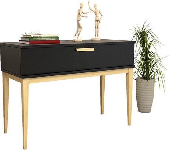 ΚονσόλαPakoworldΚονσόλα Ode μαύρο & ξύλο φυσικό 100x40,5x71εκ