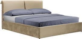 Pakoworld Κρεβάτι KATIA διπλό 160x200εκ ύφασμα μπεζ
