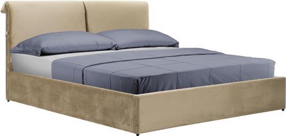 ΚρεβάτιαPakoworldΚρεβάτι KATIA διπλό 160x200εκ ύφασμα μπεζ