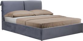 Pakoworld Κρεβάτι KATIA διπλό 160x200εκ ύφασμα γκρι