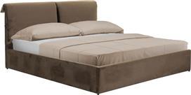 Pakoworld Κρεβάτι KATIA διπλό 160x200εκ ύφασμα καφέ