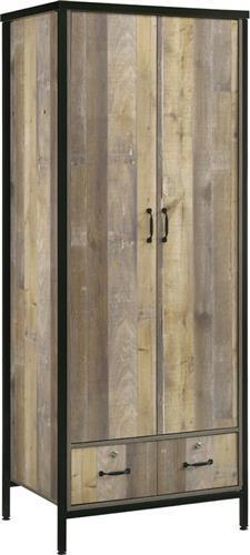 Ντουλάπες ΡούχωνPakoworldΝτουλάπα Pacific δίφυλλη antique pallet-μαύρο 80x53x195,5εκ