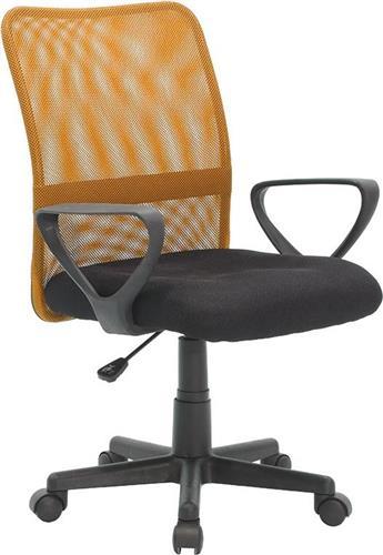 Καρέκλα ΓραφείουPakoworldJordan Mesh Μαύρο-Πορτοκαλί Παιδική