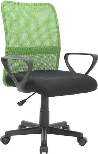Καρέκλα ΓραφείουPakoworldJordan Mesh Μαύρο-Πράσινο Παιδική