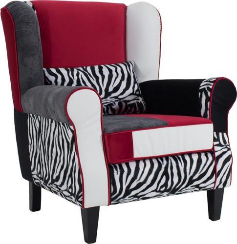 ΠολυθρόναPakoworldΠολυθρόνα-μπερζέρα Rainbow Zebra πολύχρωμο ύφασμα