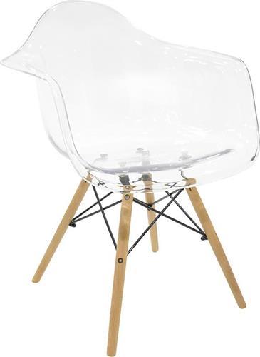 ΚαρέκλαPakoworldΠολυθρόνα Julita Polycarbonate διάφανη