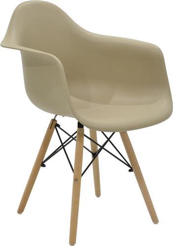 ΚαρέκλαPakoworldΠολυθρόνα Julita πολυπροπυλενίου μπεζ